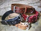 leather collar - Handmade Leather 1 inch Wide Dog Collar/Collars Black Brown