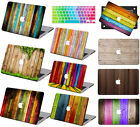 "Wood Paint Prints Hard Case keypad Cover For Macbook Air 11""Pro 13""15 Retina 12"""