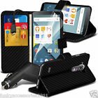 Leather Wallet Book Stand Phone Case Cover✔In Car Charger for Vodafone