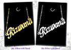 Personalised Necklaces 18ct Name Jewelry Islamic Gifts Arabic/Asian/Muslim Eid