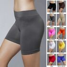 Kyпить Seamless Stretch Bike Shorts Solid Colors Spandex Workout Basic Plain Tight Pant на еВаy.соm