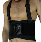Men Lumbar Support Suspenders Weight Lifting Belt Back Brace strap Work Safety
