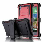 For HTC Desire 626 626S Outer Box Hybrid Hard Case Cover Stand Clip Holster