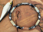 Men's BLACK Magnetic Hematite Anklet Choice of 9 GEMSTONES 1 Row Rated #1