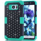Luxury Hybird Rubber Studded Diamond Protective Cover For Galaxy Note 5/ N9200