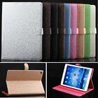Diamond Grid PU Leather Magnet Clasp Stand Case Cover For Apple iPad Mini 2 3 4