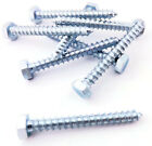 M6 x 50mm COACH SCREW  BZP Pack. Choice of  Washers , Nylon Plugs & Pack Qty