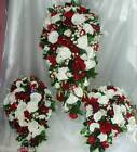 Bride & 2 Bridesmaids Bouquets Wedding Flowers Shower Teardrop - Any Colours