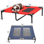 Large Dog Cat Bed Elevated Raised Pet Cot Indoor Outdoor Camping Steel Frame Mat