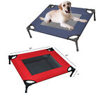 Elevated Pet Dog Cot Raised Sleep Bed Camping Steel Frame Mat Indoor Outdoor
