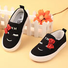 NEW Children Kids Girl Black Sports Sneakers Tennis Casual Shoes