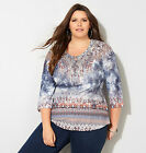 Avenue Floral Burst Lace Trim Poncho