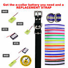 E Collar Replacement Strap and Replacement Battery Bundle- Your Choice