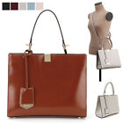 WOMEN'S HANDBAG CLASSIC MABELLE TOTE SHOULDER CROSS BAG GENUINE COWHIDE LEATHER