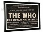 The Who Rod Stewart Greaseband Concert Poster Oval London 1971
