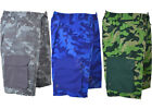 Mens Cargo Camouflage Swim Camo Shorts Beach Print Summer Mesh Lined S27