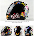 Full Face DOT Motorcycle Street Bike Dual Visor Helmet Carbon Fiber Skull Black