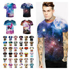Fashion Men's 3d print Summer Short Sleeve Casual T-Shirts Graphic Tee Shirts