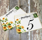 DOUBLE or SINGLE SIDED YELLOW DAISY POSTCARD WEDDING TABLE CARDS or SIGNS #141