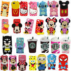 3D Cute Animals Cartoon Soft Silicone Case Cover Back Skin For Various Phones
