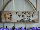 PERSONALISED GATE SIGN GOLDEN RETRIEVER SIGN DOG PLAQUE HOUSE PLAQUE PET GIFTS