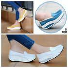 Women's Leather Casual Sport Shoes PLATFORM Walking Fitness Popular New Sneaker