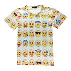 New Print 3D Emoji T Shirts Smiley Emotion Cartoon T-Shirt Short Sleeve Tee Tops