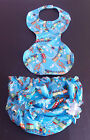 COTTON PRINT KNICKERS LINED TOWEL PANTS AND BIB SET ADULT BABY SISSY UNISEX,