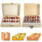 12Pcs Professional Shank Tungsten Carbide Router Bit Cutter Set With Wooden Case