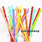 25-100pcs Star Paper Drinking Straws Birthday-Wedding-Garden Party