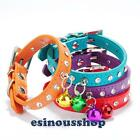XS/S Size Bling Diamond Studded With Bell For Dog Collar Supplies Puppy HOT