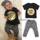 Cute Newborn Baby Boys Cotton Clothes Outfit Tops Shirt+ Trousers Tracksuit 0-3Y