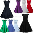 1950s 60s Sexy Retro Vintage Housewife Swing Rockabilly Pinup Prom Party Dress
