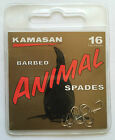KAMASAN ANIMAL BARBED SPADE END HOOKS (all sizes available)