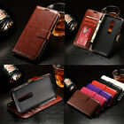 Retro PU Leather Photo Wallet Card Flip Stand Case Cover For Motorola Moto Phone