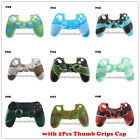 1Pcs Camouflage Silicone Case Cover for PS4 Controller With 2Pcs Thumb Grips Cap
