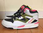 REEBOK PUMP OMNI LITE WHITE BLACK YELLOW PINK SZ 8   182136