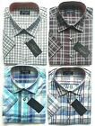 Mens Tom Hagan Check Shirt Short Sleeve Pocket Polycotton M L XL XXL