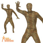 Adult Leopard Pattern Second Skin Costume Mens Animal Fancy Dress Outfit New