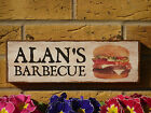 PERSONALISED BBQ SIGN BARBECUE SIGN WEATHERPROOF SIGN BARBY BARBEQUE SIGN BURGER