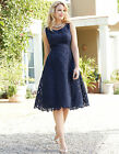 Bravissimo FLEUR DRESS crochet lace dress in NAVY (91)