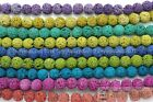 Natural Volcanic Lava Gemstone Round Ball Spacer Beads 16'' 8mm 10mm 12mm Pick
