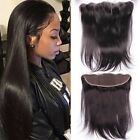 Brazilian Straight Lace Frontal Closure 7A Virgin Human Hair Bleached Knots 13x2