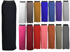 NEW LADIES BLOCK COLOUR PLUS SIZE GYPSY STRETCHY JERSEY MAXI DRESS SKIRT 14-24