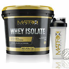 WHEY ISOLATE- HIGH PROTEIN CONTENT- LOW CARBS- ALL FLAVOURS &amp; SIZES BY MATRIX  <br/> *HIGHEST PROTEIN CONTENT - FREE SHAKER WITH 5KG TUBS*