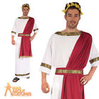Adult Greek God Costume Mens Roman Toga Fancy Dress Outfit New