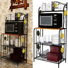 Kitchen Baker's Rack Utility Microwave Oven Stand Storage Cart Workstation Shelf