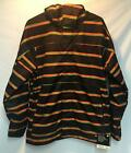 Burton Men's Launch Snowboard Winter Jacket Black Green Orange Stripe Large NEW