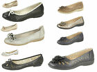 Ladies Ballerina Comfortable Flat Shoes. Perforated Summer Shoes. Sizes 3-8 UK