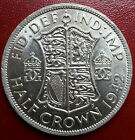 1942 HALF CROWN. ALMOST UNC WITH FULL LUSTRE. GEORGE V1 SILVER COINS